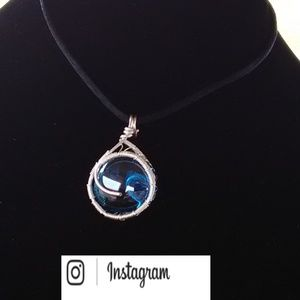 Jewelry - Silver Wrapped Turquoise Necklace